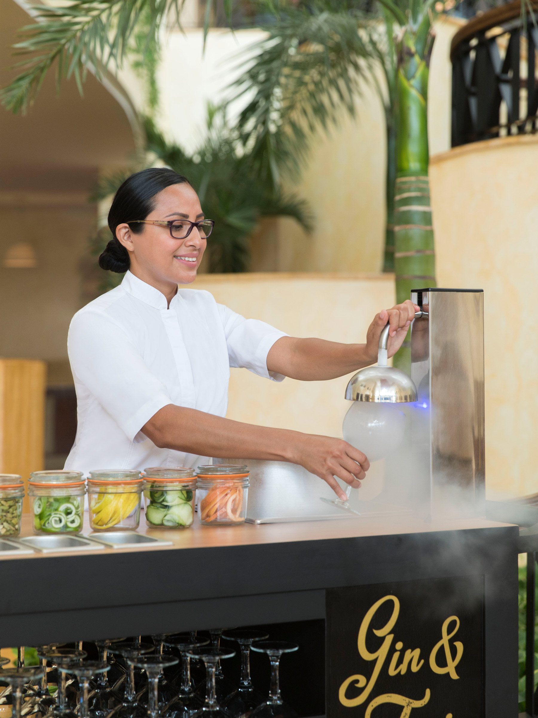 Cancun Luxury Resort Gin and Tonic Bar